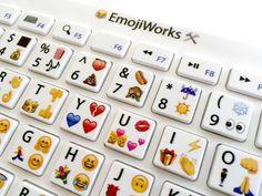 EmojiWorks Emoji Keyboard Pro - Bluetooth Wireless Keyboard for Mac, iPad, Windows