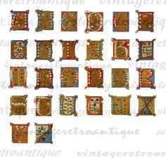 Digital Antique Christmas Alphabet Graphic by VintageRetroAntique