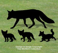 Fox Family Shadow Patterns NEW!  These life-size wild animal silhouettes are sure to make everyone look twice!