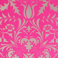 """wall paper-   Dauphine  Electric Raspberry  5 yards by 27"""" wide 3 roll minimum  Design Repeat: N/A   Roll Sq. Footage: 33.75 sq. ft"""