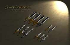 A replica of http://prolificpen.deviantart.com/art/Speedpaint-Swords-317004863  (c) to ProlificPen for the designs. Made for the game StoneHearth