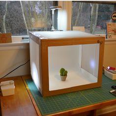 Sewing Barefoot: light box