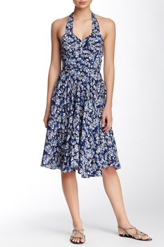 Floral Print Halter Dress by Lavand on @HauteLook