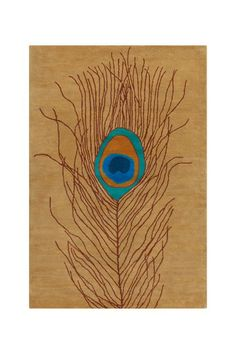 Allie Wool Rug - Brown/Turquoise by Filament on @HauteLook