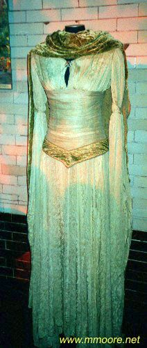 An gown worn by a female elf extra in The Lord of the Rings