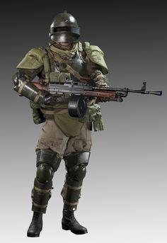 Metal Gear Solid V_The Phantom Pain_Soviet Union Heavy Armor Soldier, Ji Ruan on ArtStation at https://www.artstation.com/artwork/0EEvY