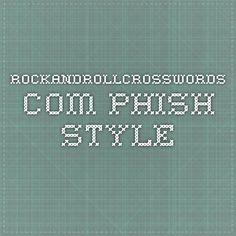 rockandrollcrosswords.com - Phish Style