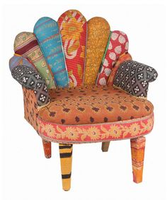 Take a look at this Orange Flower Peacock Chair on zulily today!