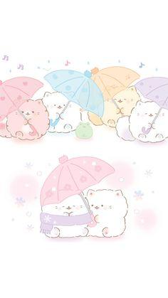 Sanrio Wallpaper, Bear Wallpaper, Kawaii Wallpaper, Cute Mobile Wallpapers, Cute Screen Savers, Cat Icon, Harry Potter Anime, Fluffy Dogs, Anime Scenery Wallpaper