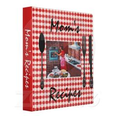 Moms Recipe Binder, Retro Design
