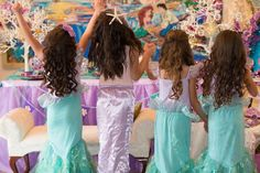Little Mermaid Under the Sea Birthday Party with Such Gorgeous Ideas via Kara's Party Ideas | Cake, decor, favors, games, and more! KarasPartyIdeas.com #thelittlemermaid #undertheseaparty #littlemermaidparty #partyideas #eventplanning #partyplanner #partydesign (35)