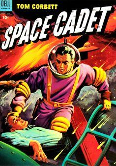 In tribute to Tom Corbett, the original Space Cadet. Sci Fi Books, Comic Books Art, Book Art, Old Sci Fi Movies, Science Fiction, Pulp Fiction, Space Hero, Sci Fi Comics, Classic Sci Fi