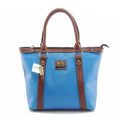 Look Here! Coach North South Medium Blue Totes DJB Outlet Online