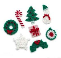 Crocheted Holiday Motifs for packages, etc. Skill Level: Easy (Level 2) Size: One Size Each Motif measures about 4 in. (10 cm) across Skill Level: Easy (Level 2)  Size: One Size  Each Motif measures about 4 in. (10 cm) across.  Bonbons Yarn: Jingle Bells Quantity: 1 () ball Price: $ 7.99  Lion Brand Crochet Hook - Size G-6 (4 mm) Quantity: 1 Price: $ 2.45  Lion Brand Large-Eye Blunt Needles (Set of 6) Quantity: 1 Price: $ 3.59.  Holiday Motifs Lion Brand ® Bonbons  GAUGE:  19 sc = about 4…