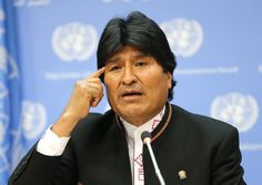 """""""Today we see with deep concern how racism is spreading in the U.S.,"""" Bolivian President Evo Morales said."""