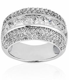 Round & Princess Cut Diamond Anniversary Band