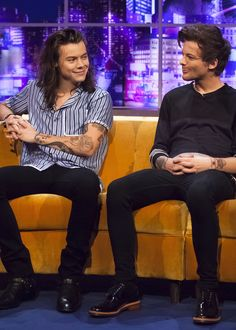 the jonathan ross show Larry Stylinson, One Direction Harry, One Direction Pictures, Direction Quotes, Louis Y Harry, Larry Shippers, Louis Tomilson, Don Juan, Mr Style