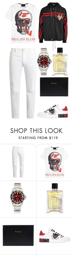 """guy 21"" by fashionhypedaily ❤ liked on Polyvore featuring Vetements, Philipp Plein, Paul Smith, Dolce&Gabbana, Gucci, men's fashion and menswear"