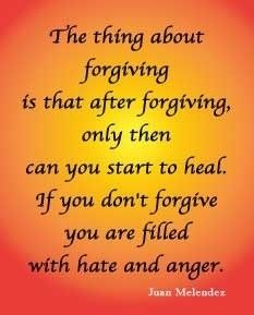 Please Forgive yourself first