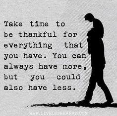 Take the time.