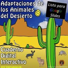 Students use this 17 slides digital science notebook to practice research skills and citing evidence while learning about desert animal adaptations. This science resource is for students in grades 3 - 5 and accessed through Google Slides. This version is in ESPAÑOL All content for the student is ...
