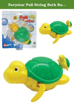 Navystar Pull String Bath Buddies - Turtle Baby Toy. Have your little baby boy and girl learn to love the water and look forward to bathtime with this Turtle, that swims in the tub, pool or ocean. Just pull the string and hear the baby's giggles and excitement. This Bath Buddies toy makes water play extra fun! Collect them all.