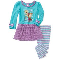 Disney Frozen Toddler Girl Skirted T-Shirt and Legging Set- $11.97