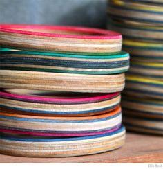 Bondville: Ellie Beck recycled skateboard bangles