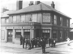 Railway Tavern, 22 West Street, Sittingbourne - circa - This is now the Ypres Tavern London Pubs, Old London, Places In England, Best Pubs, Old Pub, British Pub, Old West, Old Photos, Street View