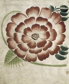 Formal Flower on Leaf Ground tile design by William De Morgan, late 19th century