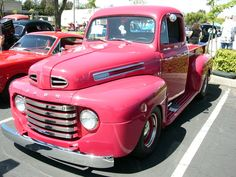 1950's Ford Pink Truck!