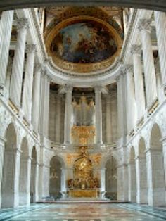 The chapel at Versailles, France.