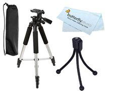 Deluxe 57 Camera Tripod with Carrying Case For The Sony Cybershot DSC-N1 DSC-T20 Digital Cameras DSC-T100 DSC-G1 DSC-N2