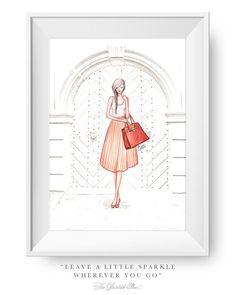 Fashion illustration print Fashion art girl by ThePaintedShoeArt