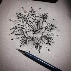 WEBSTA @ ferx_moraes_tattoo - rosa com mandala em pontilhismo, para uma cliente…