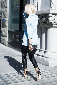 #leather skinny pants #streetstyle
