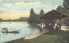 Lake Conewago. Mt. Gretna PA: early days.
