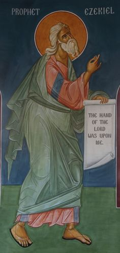 """The Prophet Ezekiel:  is referred to as """"son of man"""" (93x) pointing to his humanity, and """"the hand of the Lord was there upon me, """"(Ez. 1:3;3:22;33:22;37:1) said elsewhere only of Elijah (1 Kings 18:46) and Elisha (2 Kings 3:15)."""