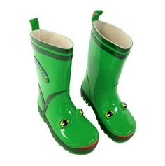 Kids Frog Rain Boots