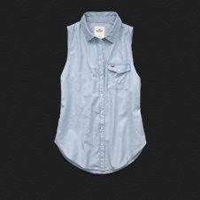 Girls Grandview Chambray Shirt