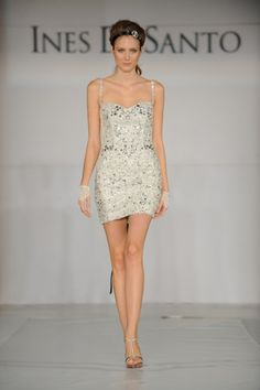 Ines Di Santo spring summer 2010 Jewel dress Swarovski encrusted mini with sweetheart neckline and jeweled straps.
