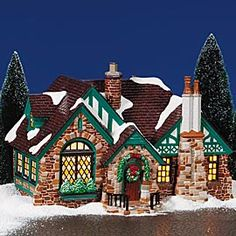 "Department 56: Products - ""Tudor House"" - View Lighted Buildings"