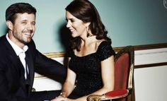 """The interviewer said Frederik and Mary were """"giggling, for all the world like a couple who have had several glasses of champagne at a party and slipped away for a breath of air and a kiss."""""""