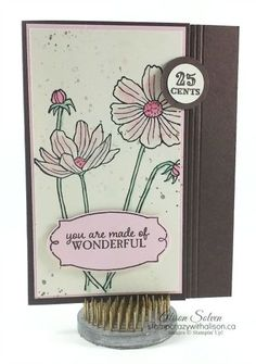 Helping Me Grow stamp set daisies watercoloured www.stampcrazywithalison.ca