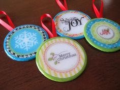 Stay-at-Home Artist: mod podge ornaments with free printable...