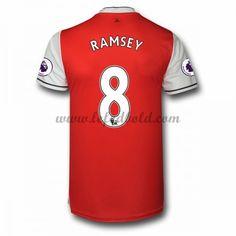 Billige Fodboldtrøjer Arsenal 2016-17 Ramsey 8 Kortærmet Hjemmebanetrøje