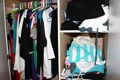 Closet organizing tips! Yes!