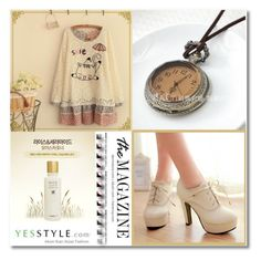 """""""Yesstyle Spring Fashion ☼"""" by meldin ❤ liked on Polyvore featuring Baimomo, The Face Shop, Shoes Galore, Fairyland, Spring, springfashion and yesstyle"""