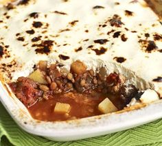 Lentil & lamb moussaka - More lentils, less mince is the key to this low-cost family meal Bbc Good Food Recipes, Gourmet Recipes, Cooking Recipes, Healthy Recipes, Lebanese Recipes, Greek Recipes, Lamb Moussaka Recipe, Middle Eastern Lentil Soup