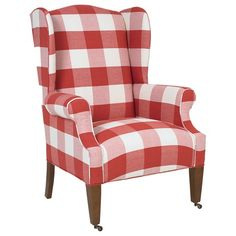 OH MY GOSH!  I HAVE to have this chair!  Buffalo checks are my favorite ... and in RED, too!  TOTALLY goes in my Dining Room!